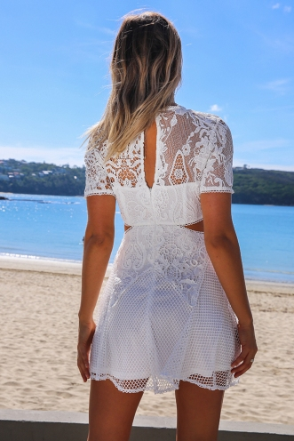 Keep Trying Dress - White