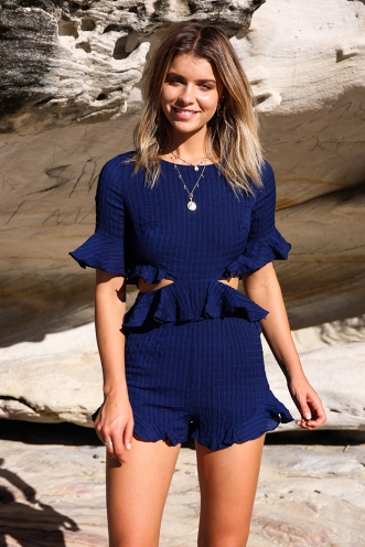 Capture My Heart Playsuit - Navy
