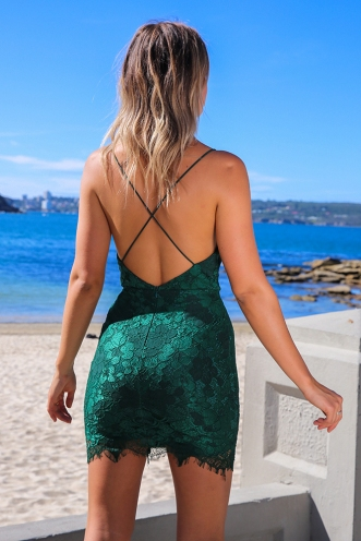 Made To Move Dress - Green