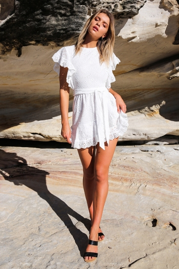 Into the Beyond Dress - White