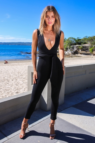 Long Time Jumpsuit - Black