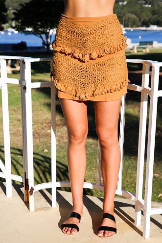 By The Road Skirt - Tan