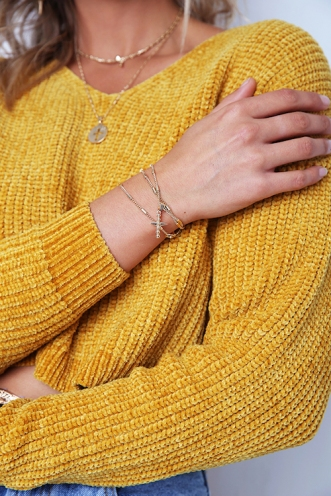Minc Collections - Lola Wrap Bracelet - Gold