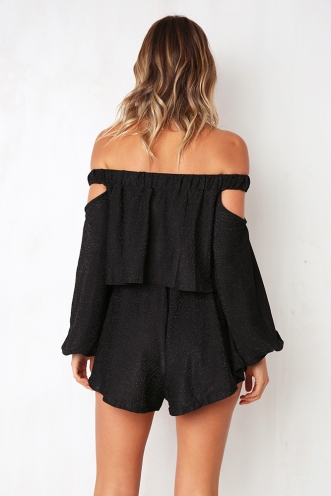 Shake and Twist Playsuit - Black Shimmer
