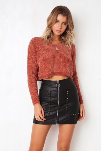 You And I Chanille Jumper - Rust