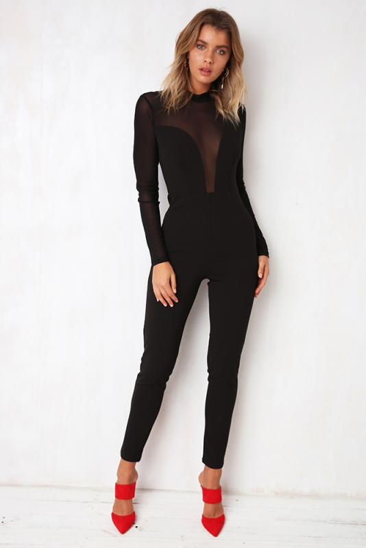 8a97b7a246 Behind Enemy Lines Jumpsuit - Black - Stelly