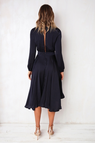 Dance With Me Dress - Navy