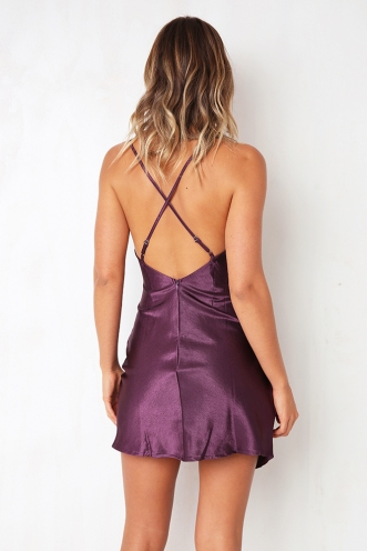 Want Your Number Dress - Purple
