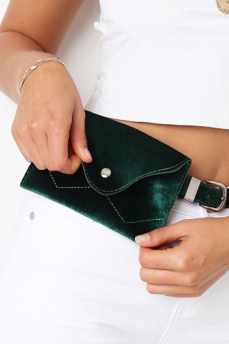 Wild Thing Bum Bag - Green Velvet