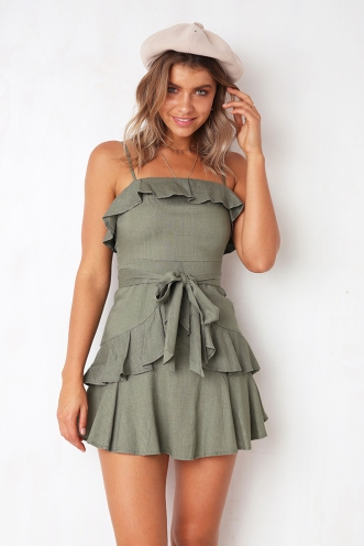 By The River Dress - Khaki