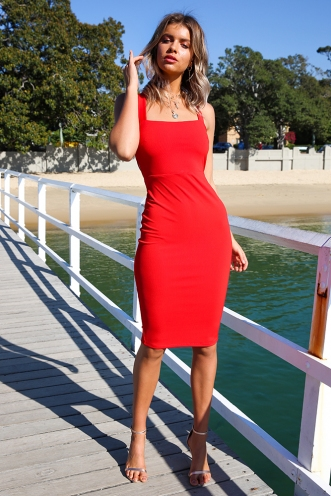 Polly Dress - Red