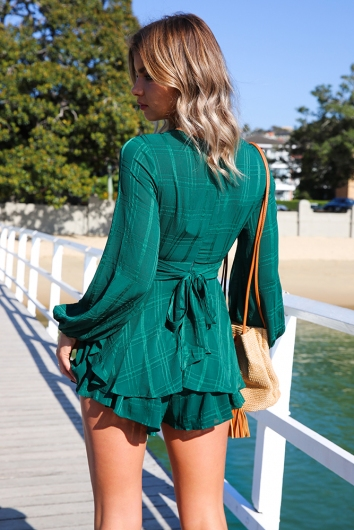 Truly Madly Deeply Playsuit - Forest Green