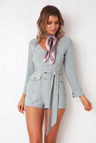 Going Solo Playsuit - Pistachio