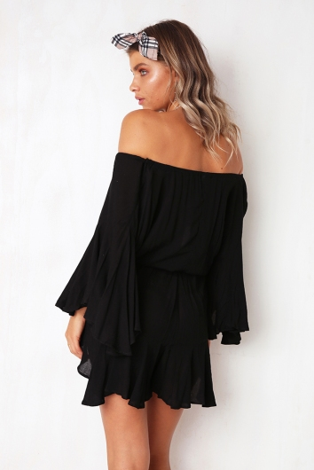 Not Alone Playsuit - Black