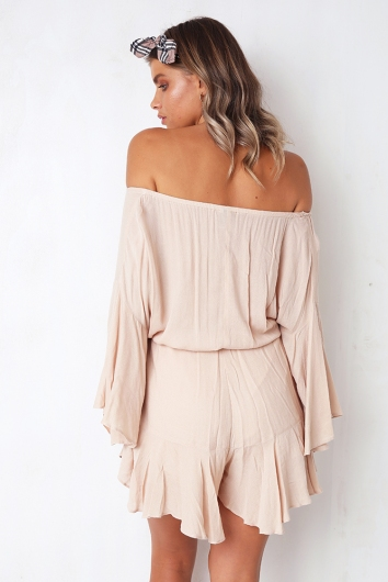 Not Alone Playsuit - Beige