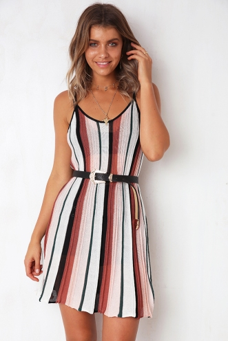 By The Shore Dress - Mix Pink/Orange
