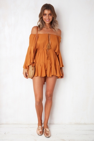 Not Alone Playsuit - Rust
