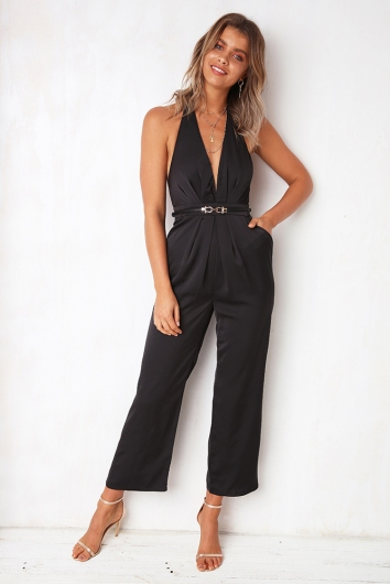 90361fd3ae Lets Face It Jumpsuit - Black - Stelly