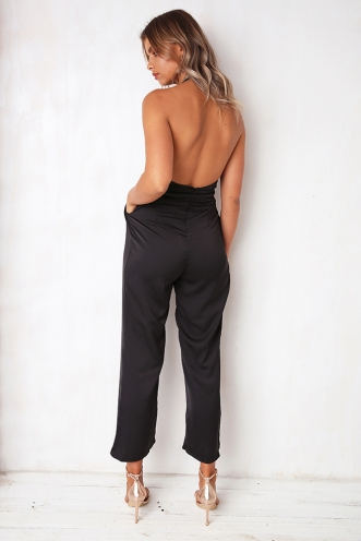 Lets Face It Jumpsuit - Black