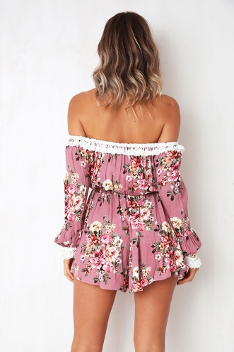 Young Love Playsuit - Pink Print