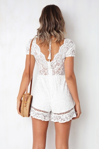 Halo Playsuit - White