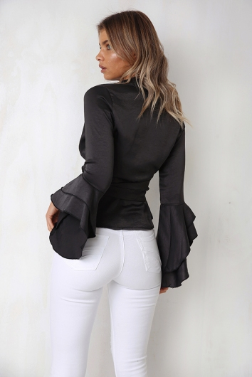Lorryn Top - Charcoal
