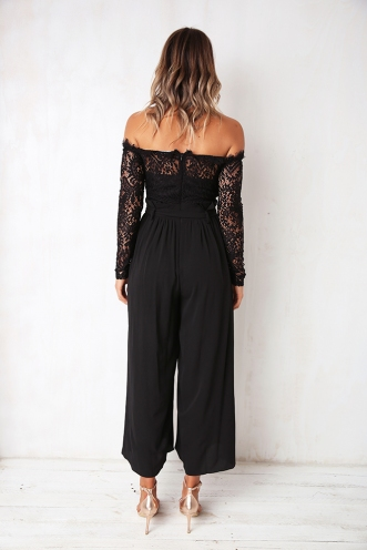 Spin The Bottle Jumpsuit - Black