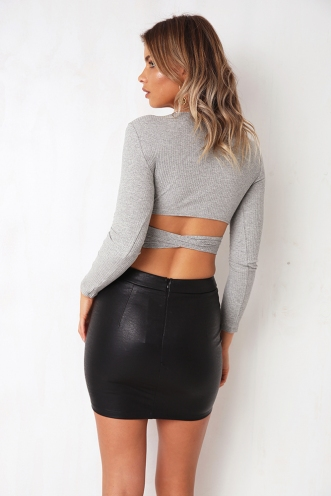 Sidelines Top - Grey