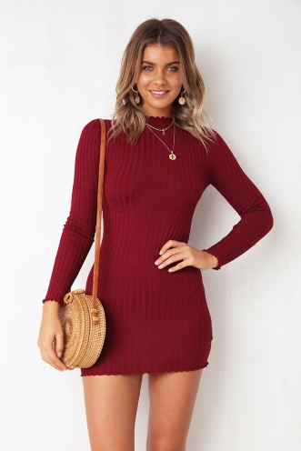 Lucky Charm Dress - Maroon