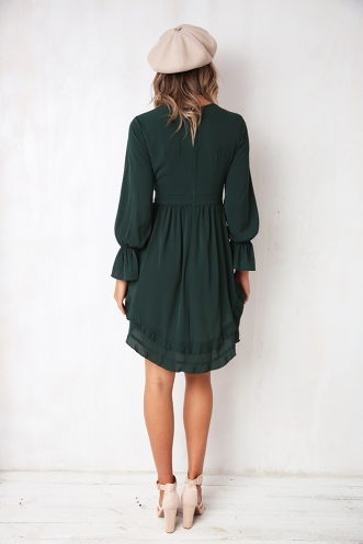Tia Dress - Forest Green