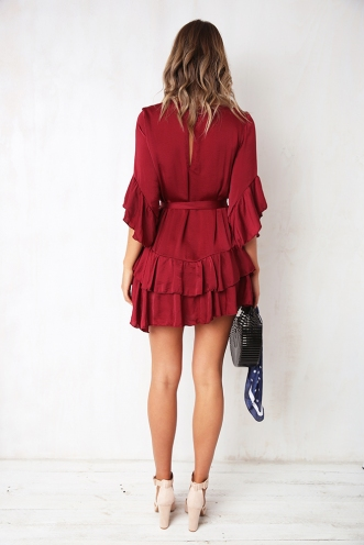 Lara Dress - Maroon