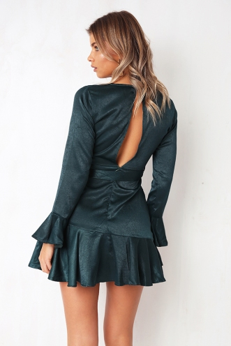 Stories Told Dress - Forest Green