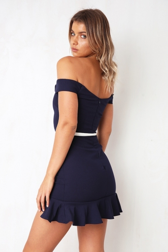Pick Up The Pieces Dress - Navy