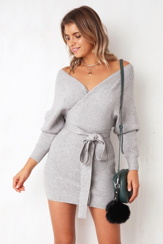 Eyes Wide Open Dress - Grey