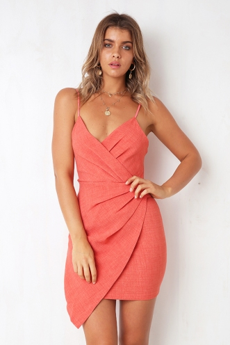 City Limits Dress - Coral