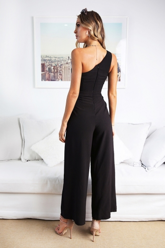 Underneath the Sunrise Jumpsuit - Black