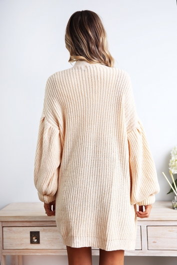 Up In The Air Cardigan - Nude