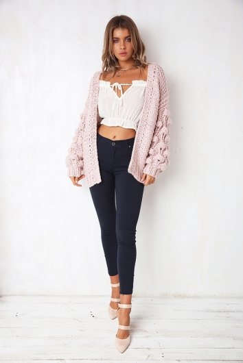 Cloud Cover Cardigan - Pink