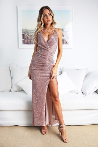 Starry Night Gown - Beige Sequin