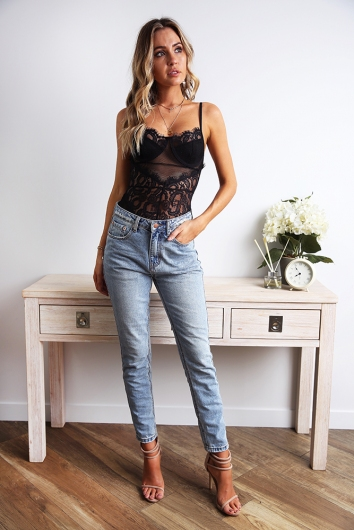 Lounge All Day Bodysuit - Black