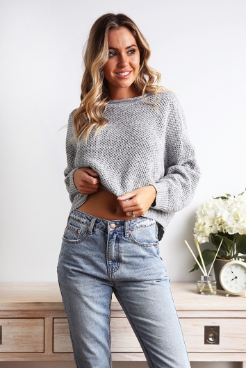 Erin Knit Jumper - Grey