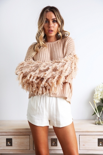 Home Time Jumper - Beige