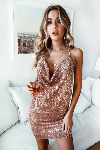 Going Crazy Dress - Gold Sequin