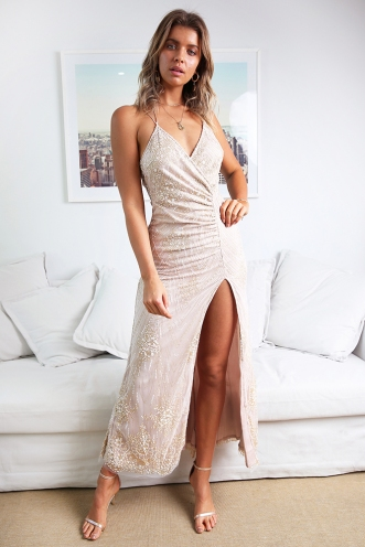 You And I Dress - Blush Sequin