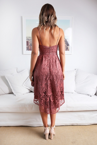 Halo Dream Dress - Dusty Pink