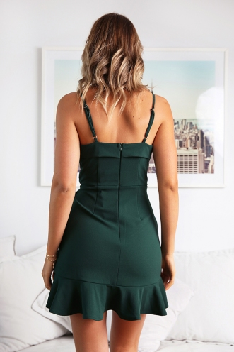 Round Of Applause Dress - Forest Green