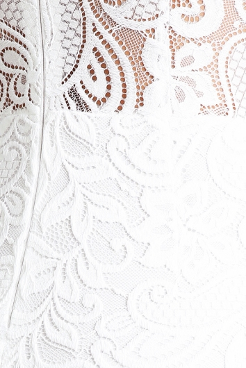 Lighter Times Dress - White lace