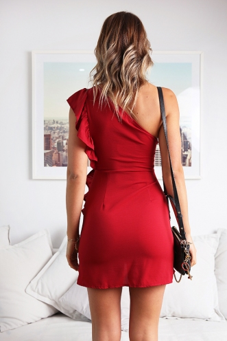 Open your eyes dress - Red