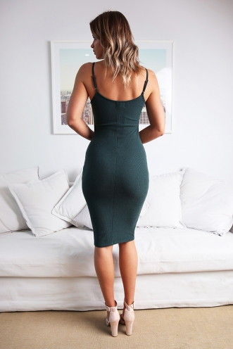 Penny Dress - Forest Green