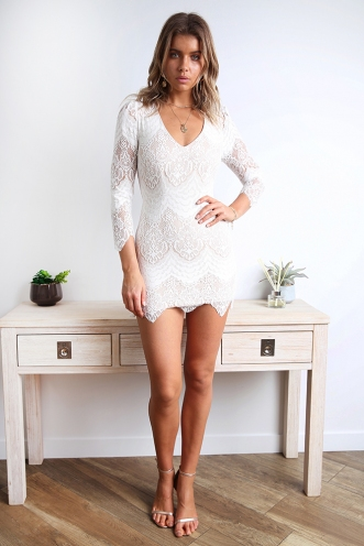 Misguided Angel Dress - White